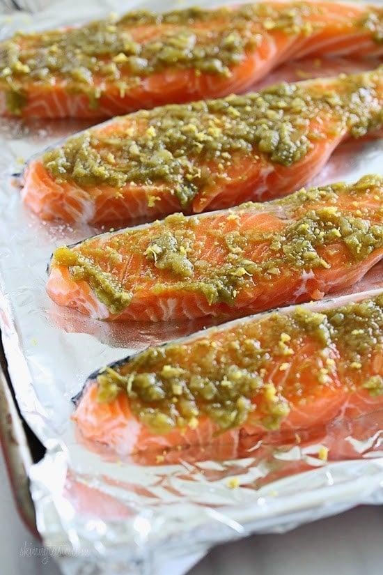 Green Harissa Salmon –a quick weeknight dish!