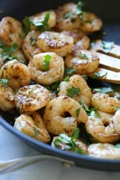Easy shrimp seasoned with fragrant spices and spiked with tequila, takes weeknight sauteed shrimp from ordinary to amazing in less than 10 minutes!