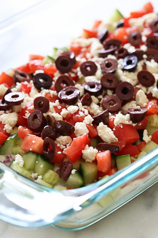 Greek 7 Layer Dip – Grab a chip, so easy to make for your next picnic!