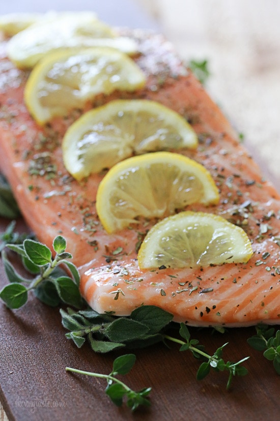Grilled Mediterranean Cedar Plank Salmon | Skinnytaste