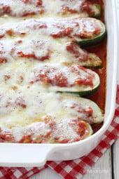 Sausage-stuffed-zucchini-boats
