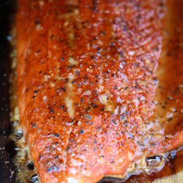 I'm excited to share this guest post from my friend Jackie from CAFE, Celiac and Allergy Friendly Epicurian (A great source for gluten-free recipes!). A wonderful salmon dish made on a cedar plank topped with a brown sugar spice rub.