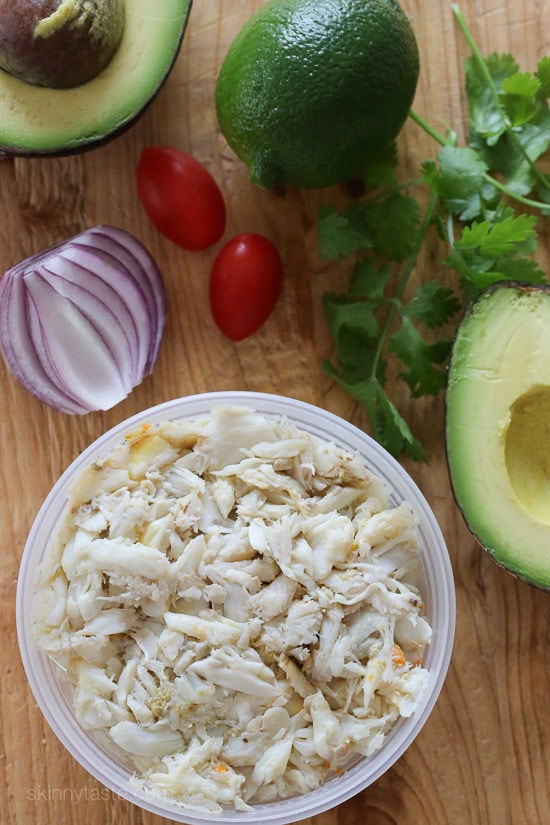 Avocado and Lump Crab Salad – avocado stuffed with a light, lump crab meat – the perfect summer low-carb salad! #glutenfree #whole30 #paleo #lowcarb