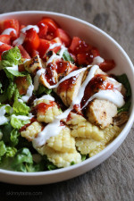 This BBQ Chicken Salad is easy, delicious and takes less than 15 minutes to make – the perfect summer salad bowl!