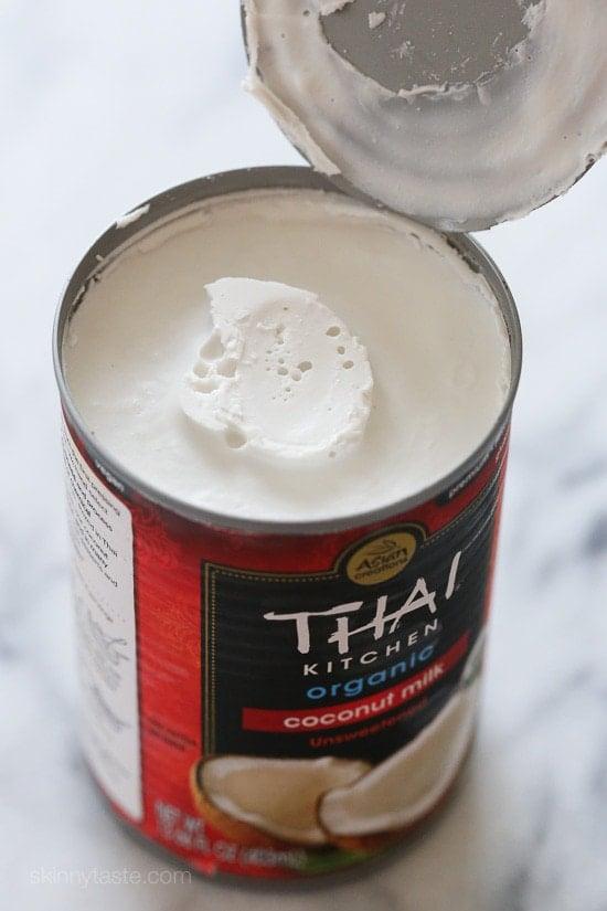 Can of full fat coconut milk