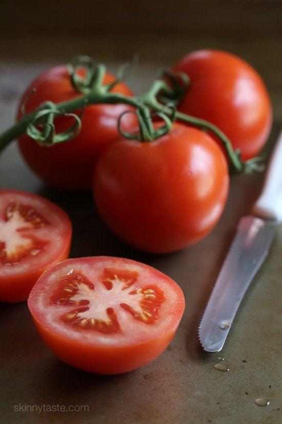 pesto parmesan baked tomatoes skinnytaste