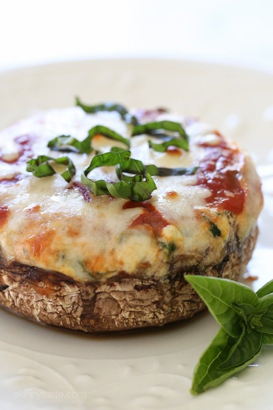 Veggie Lasagna Stuffed Portobello Mushrooms – low-carb, gluten-free and vegetarian