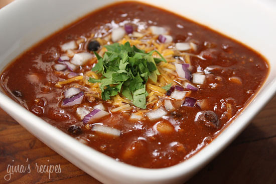 Crockpot Three Bean Turkey Chili