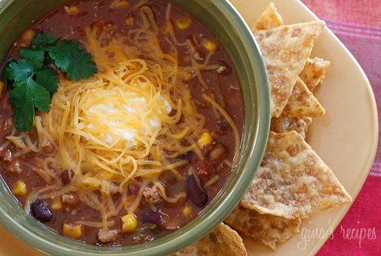 Low Fat Turkey Chili Soup