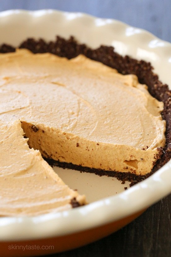 , this no-bake cheesecake is light and fluffy, made with pumpkin ...