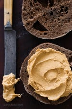 Pumpkin Spice Cream Cheese –  an EASY way to enjoy the flavors of Fall for breakfast on bagels, toast, muffins or my favorite, Pumpkin Banana Bread.