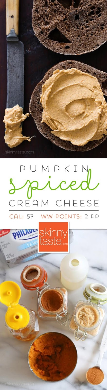Pumpkin Spiced Cream Cheese – an easy way to enjoy a taste of Fall for breakfast!