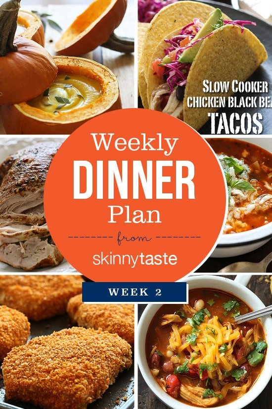 Skinnytaste Dinner Plan (Week 2)