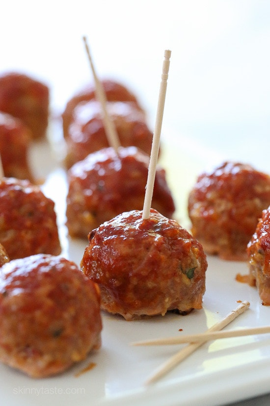 Sweet N Spicy Bbq Turkey Meatballs With Bacon