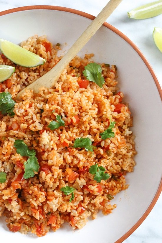 Quick Mexican Brown Rice – a quick, easy side dish!