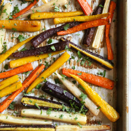 Madison, my youngest daughter loves raw carrots. She gets them in her lunch box every single day, so when she saw these rainbow carrots in Trader Joe's, she couldn't believe carrots came in so many colors so I had to buy them for her to taste. The colors are just gorgeous, but you can also use orange carrots for this recipe.