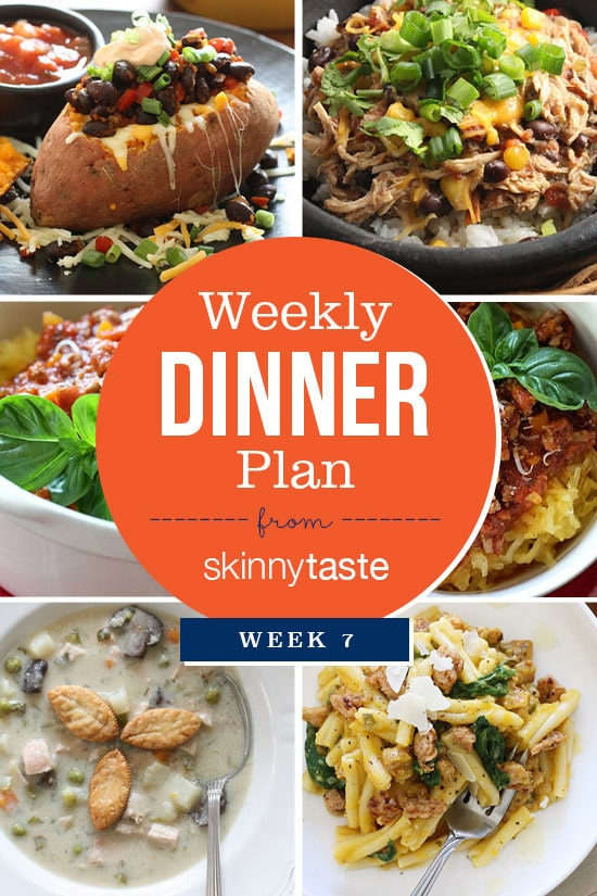 Skinnytaste Dinner Plan (Week 7)