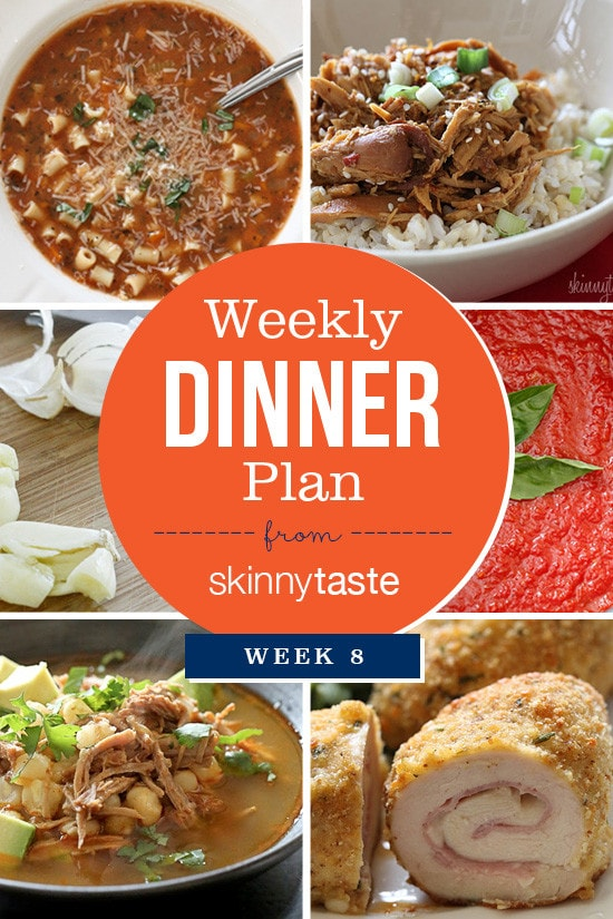 Skinnytaste Dinner Plan (Week 8)