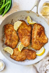 Breaded Turkey Cutlets with Parmesan Crust