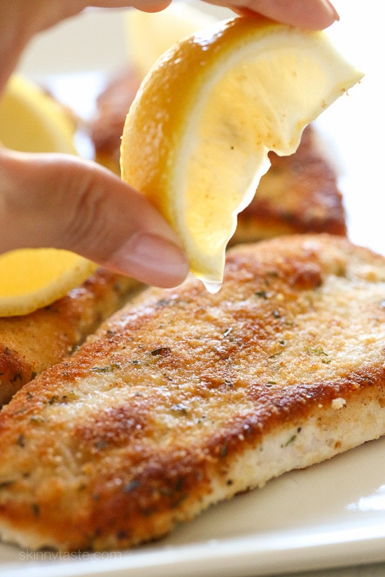 Turkey Cutlets with Parmesan Crust – a QUICK, light, family-friendly weeknight meal!
