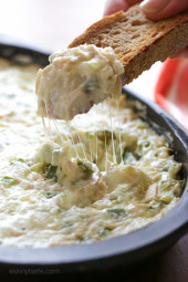 If you like hot, melty Chicken Philly Cheesesteak Sandwiches, you'll love this dip! This is one dip you'll want to have at any party, perfect for the super bowl coming up.