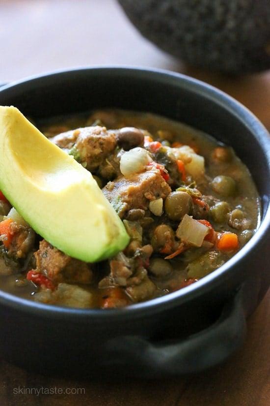 Slow Cooker Pork and Gandules (Pigeon Peas) Stew