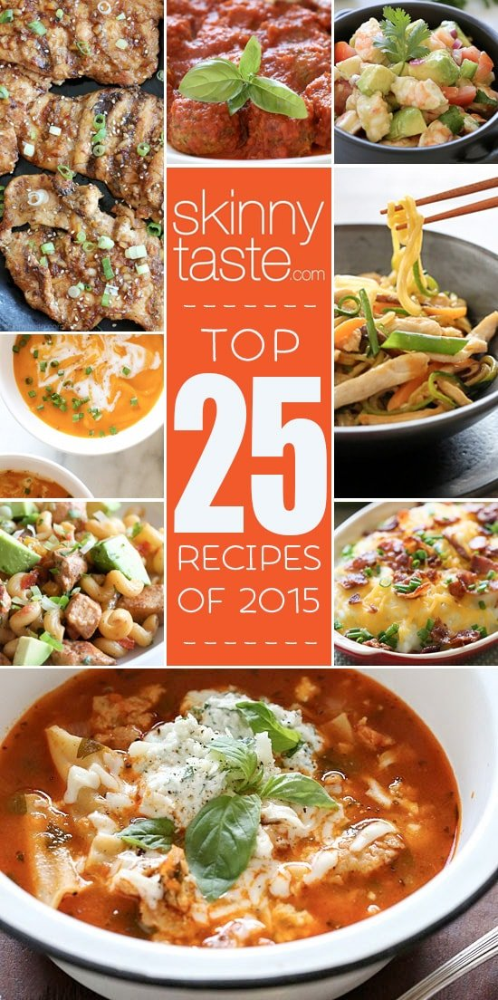 Top 25 Most Popular Skinnytaste Recipes 2015
