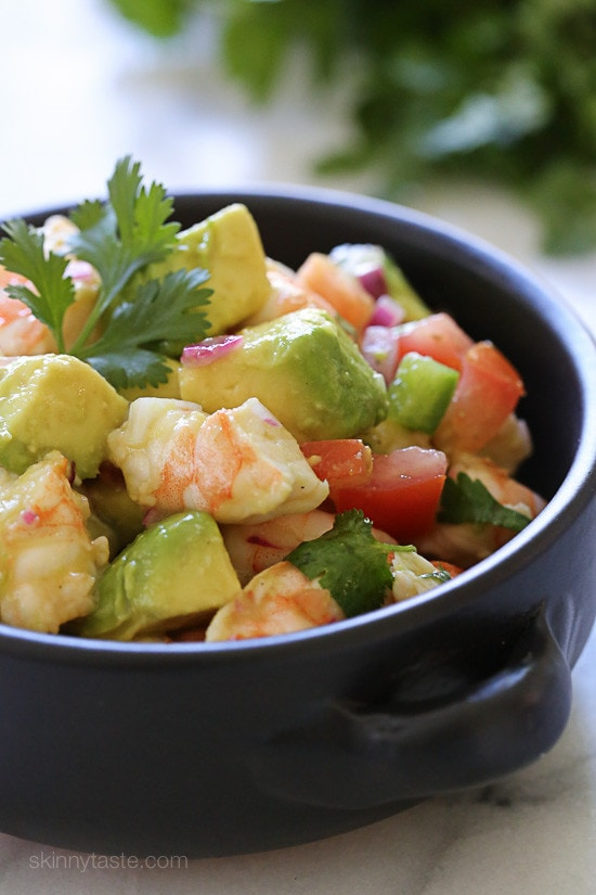 Top 25 Most Popular Skinnytaste Recipes 2015 – Zesty Lime Shrimp and Avocado #6