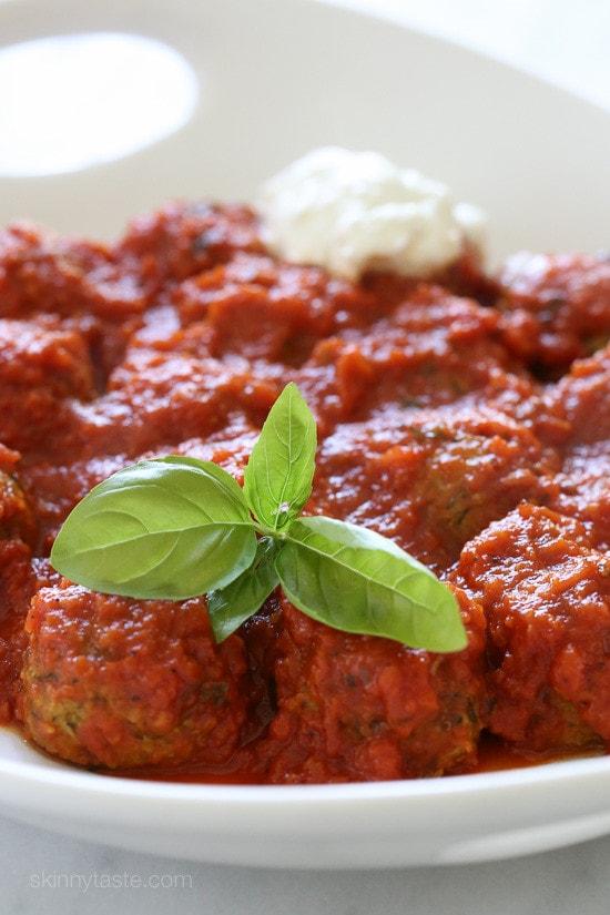 Top 25 Most Popular Skinnytaste Recipes 2015 –Zucchini Meatballs #5