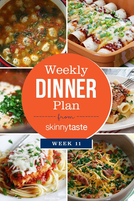 Skinnytaste Dinner Plan (Week 11)