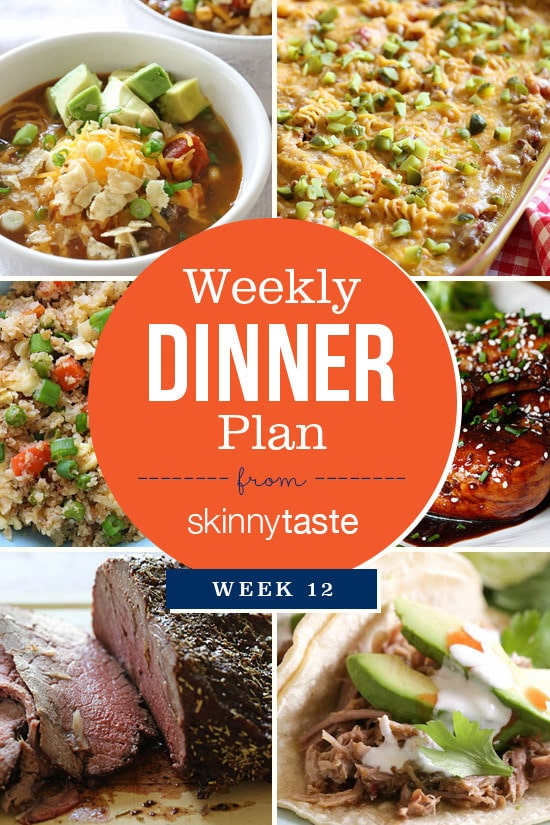 Skinnytaste Dinner Plan (Week 12)