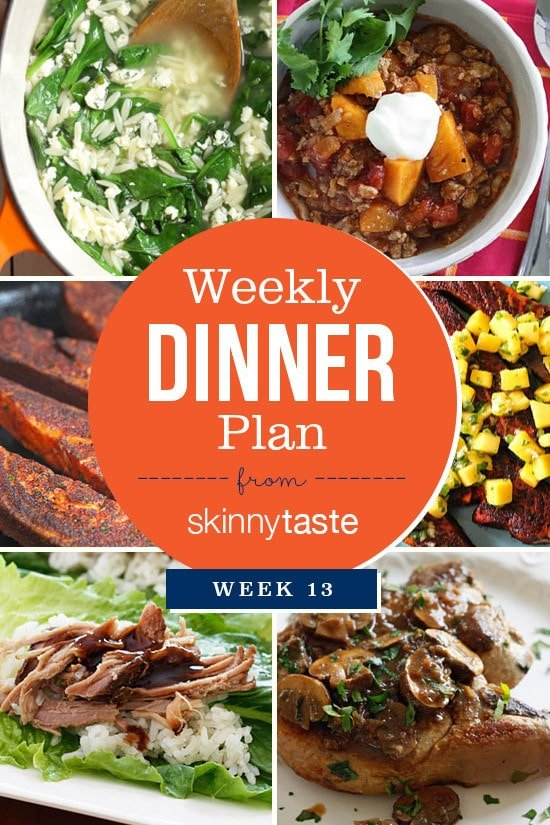 Skinnytaste Dinner Plan (Week 13)