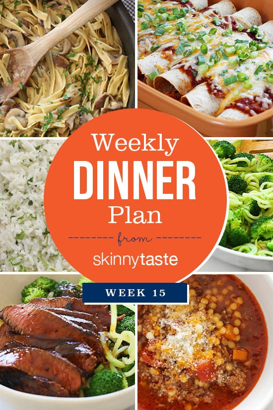 Skinnytaste Dinner Plan (Week 15)