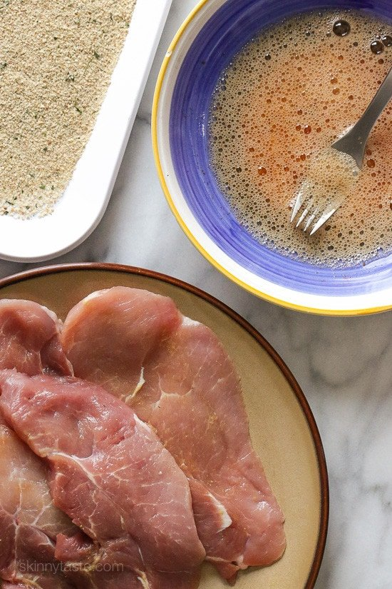 Pork sirloin cutlets are a lean cut, and taste wonderful breaded and lightly pan fried.