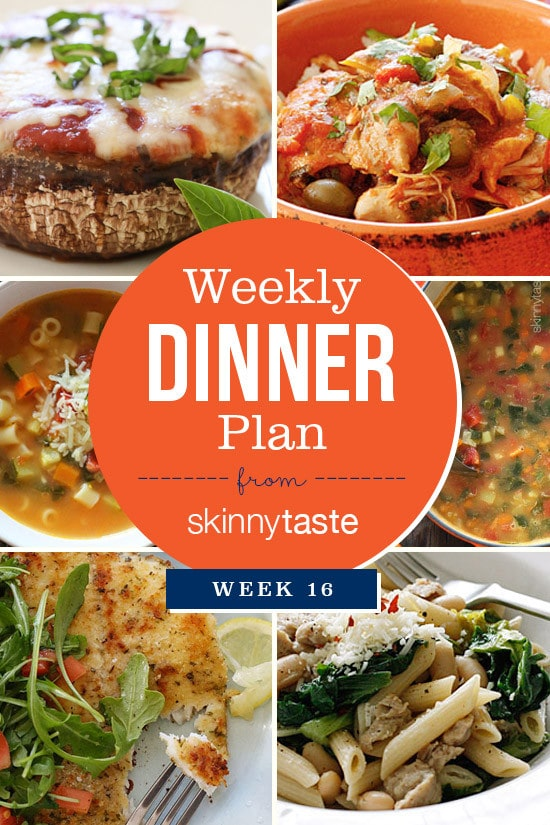 Skinnytaste Dinner Plan (Week 16)