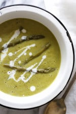 I LOVE cream of asparagus soup, it's pure comfort in a bowl and so simple to make. Made with just 5 ingredients and ready under 25 minutes!