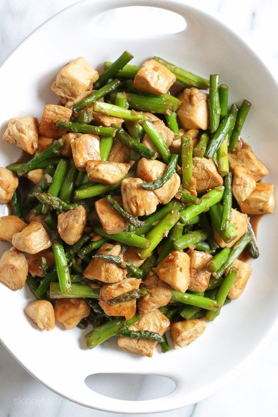 Chicken and Asparagus Teriyaki Stir-Fry | Skinnytaste