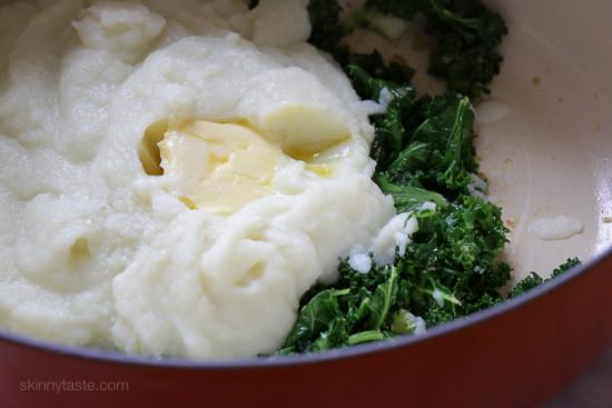 Creamy Cauliflower Mash with Kale