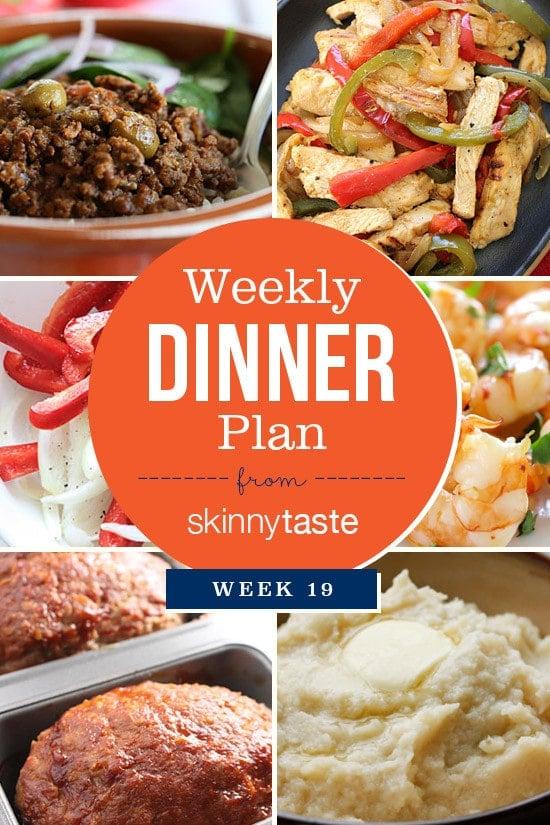 Skinnytaste Dinner Plan (Week 19)