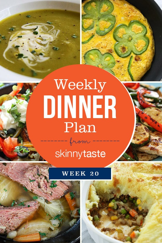Skinnytaste Dinner Plan (Week 20)