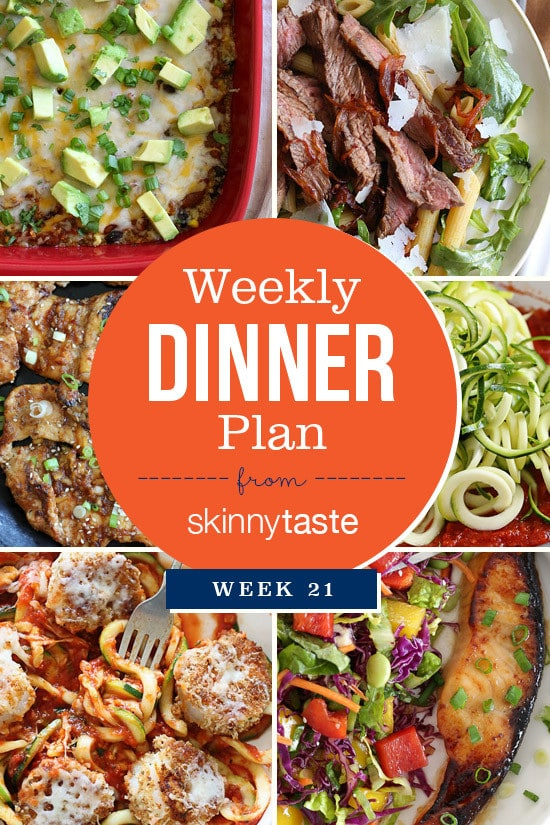 Skinnytaste Dinner Plan (Week 21)