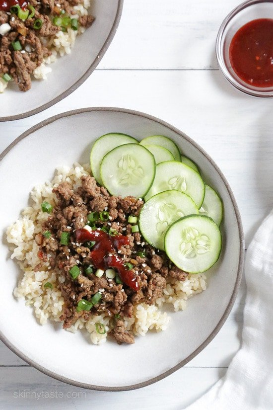 Korean Beef Rice Bowls