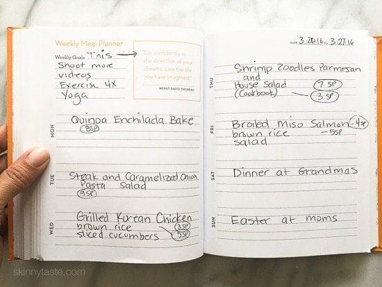 Skinnytaste Dinner Plan (Week 21)