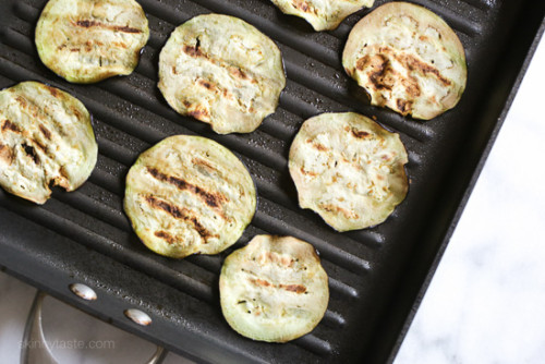 Layers of eggplant, zucchini and squash are baked in a quick tomato ...