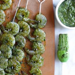 Chermoula is a sauce, similar to a pesto, used in North African cooking as a marinade to flavor fish or seafood, but it can be used on other meats, vegetables or stirred into couscous.