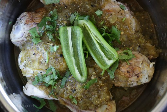 Easy Braised Chicken Drumsticks in Tomatillo Sauce – An easy Mexican-inspired chicken dish made with just a few ingredients!