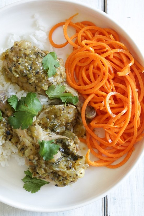 Braised Chicken With Tomatillos Recipe — Dishmaps