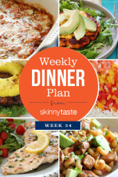 Skinnytaste Weekly Dinner Plan Week 24