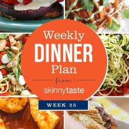 Skinnytaste Dinner Plan Week 25