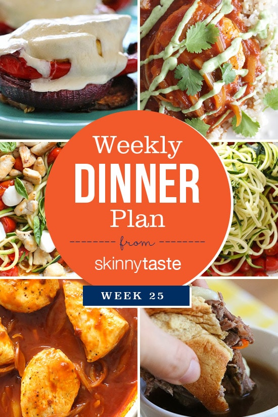 Skinnytaste Dinner Plan Week 25